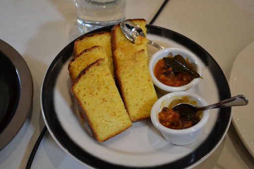 Corn Bread with Tomato Jam