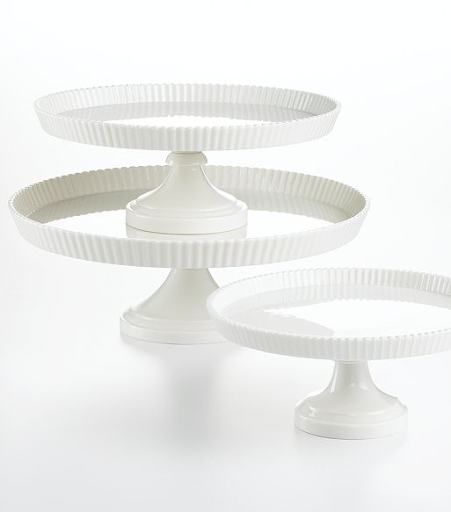 Martha Stewart Collection Whiteware Cake Stands, from $36, macys.com.