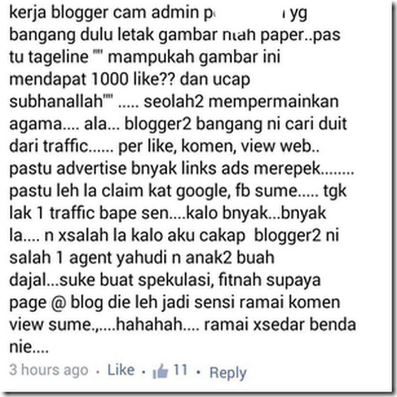 Blogger agen yahudi ?