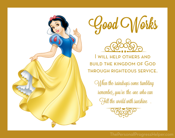 Young Women Value Disney Princess Posters | Good Works: Snow White