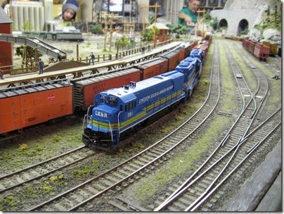 IMG_0320 U28B #281 on the Mount Hood Model Engineers HO-Scale Layout in Portland, Oregon on March 8, 2008