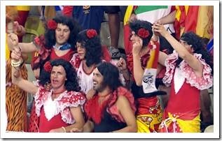 spanische Fans EM 2012