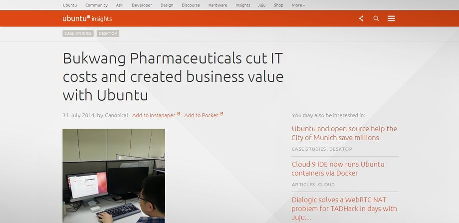 Bukwang Pharmaceuticals migra da Windows ad Ubuntu