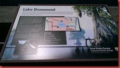 Lake Drummond Sign