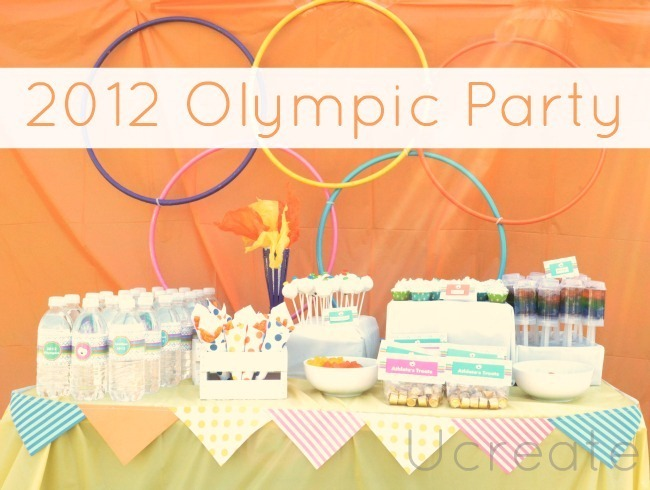 2012 Olympic Party Dessert Table