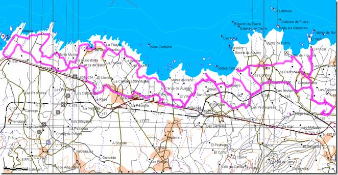 Mapa Ruta Navia Porcia