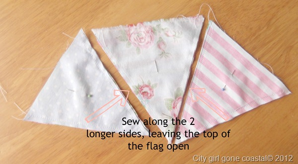 sewing long sides together