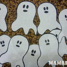 Decoración para Fiesta de Halloween: Fantasmas de Papel