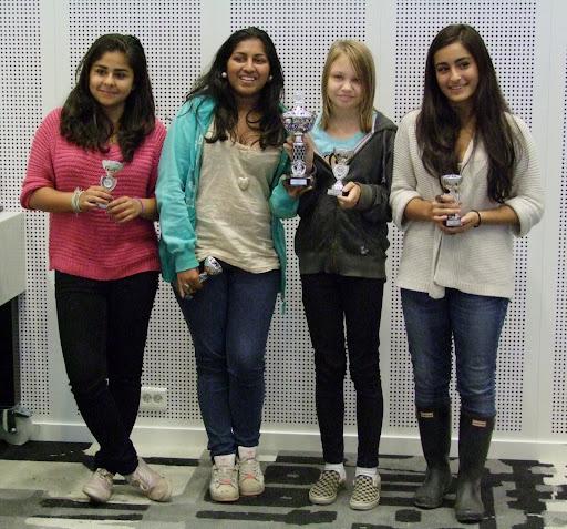 OSSU Girls endte på 4. plass. Bra jobbet!