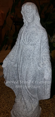 Mary Our Lady of Grace, H37 California White Granite.