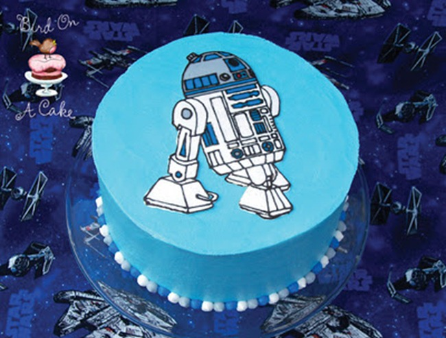 R2D2 Star Wars Cake diy