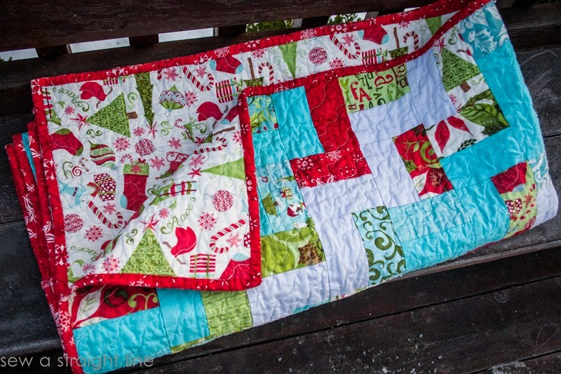 moda 12 days of Christmas quilt step in time sew a straight line-9