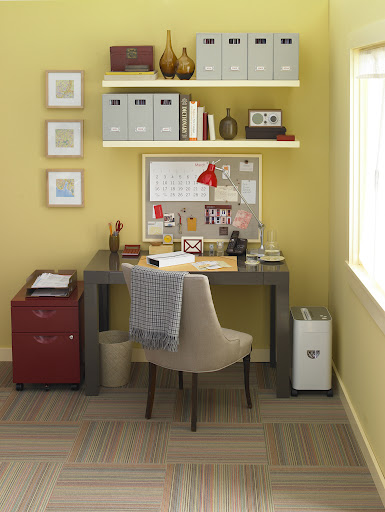 A paper shredder is another great tool, essential to any organized home office.