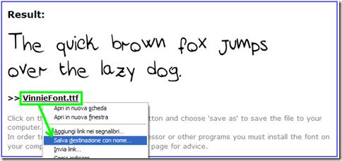 Scaricare il proprio font di scrittura creato con MyScriptFont.com