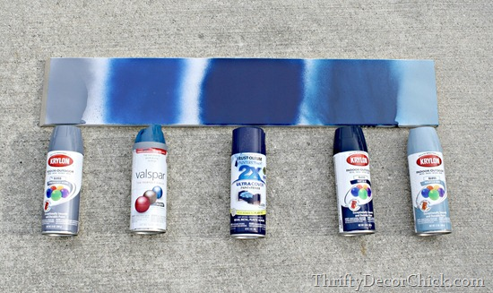 comparing spray paints