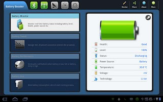 Screenshot of Battery Booster Tablet Version