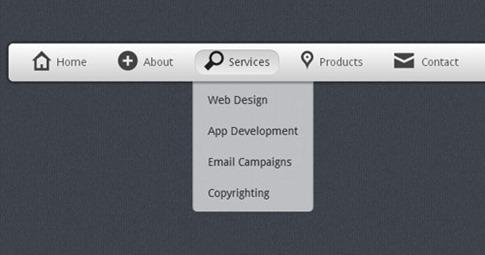 Cómo crear impresionante menú desplegable en CSS3