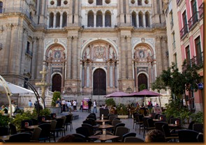 Malaga, cathedral facade