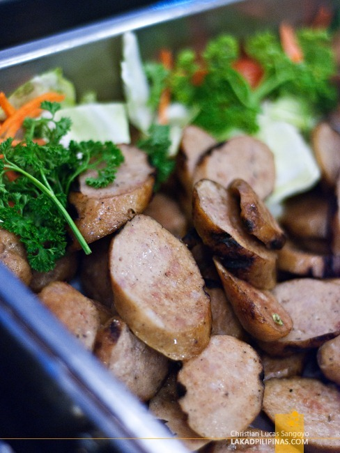 Grilled Sausages at Millie's Restaurant