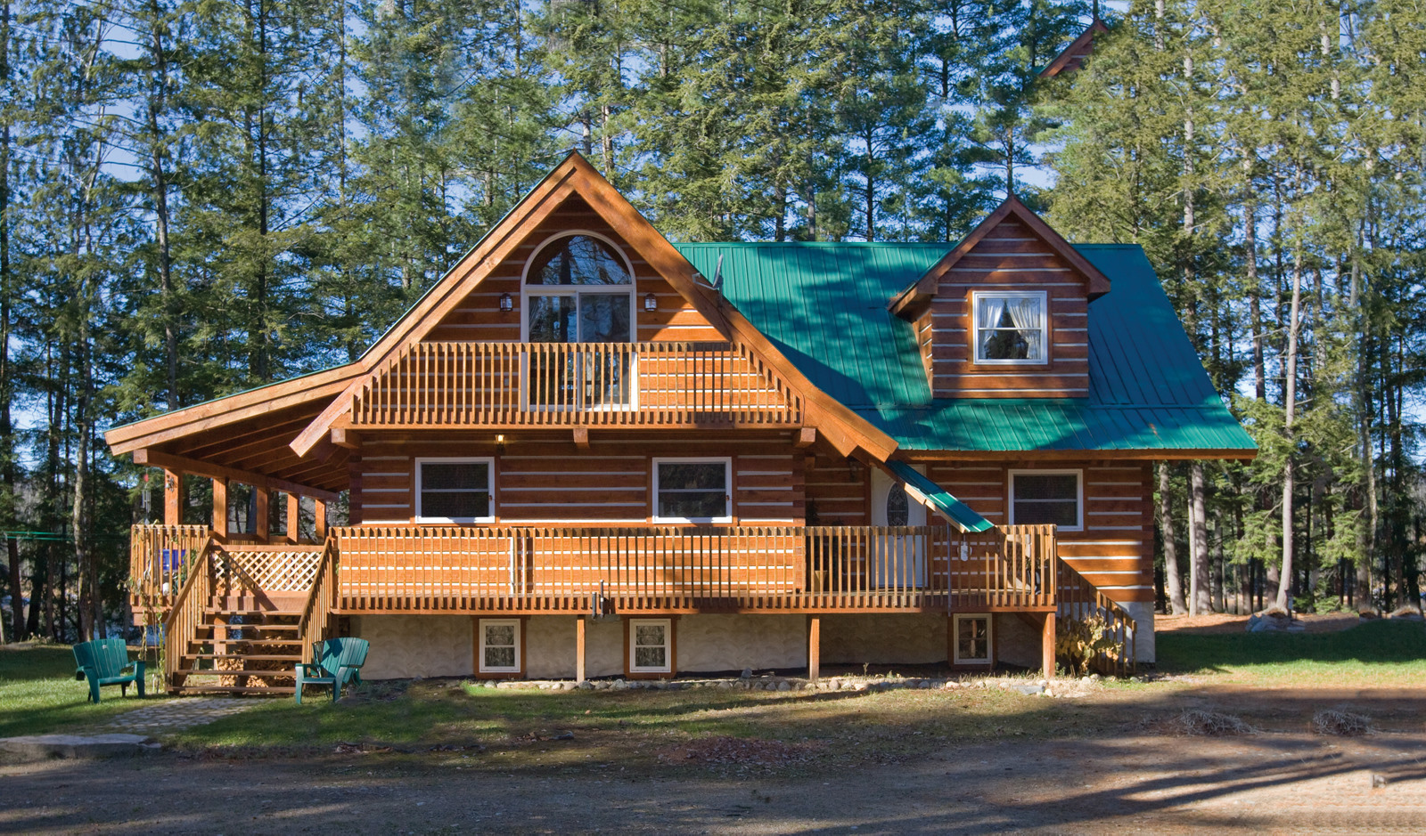 Marvelous photograph of your own beautiful eco friendly energy efficient custom log home  with #A25E29 color and 1600x939 pixels