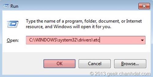 Cách vào facebook bị chặn bằng sửa file host 01