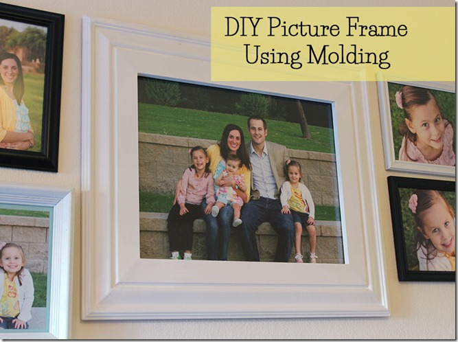 DIY Picture Frame using Molding from The Crafty Cupboard