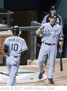 'Alexei  Ramirez, Kevin  Youkilis' photo (c) 2012, Keith Allison - license: http://creativecommons.org/licenses/by-sa/2.0/