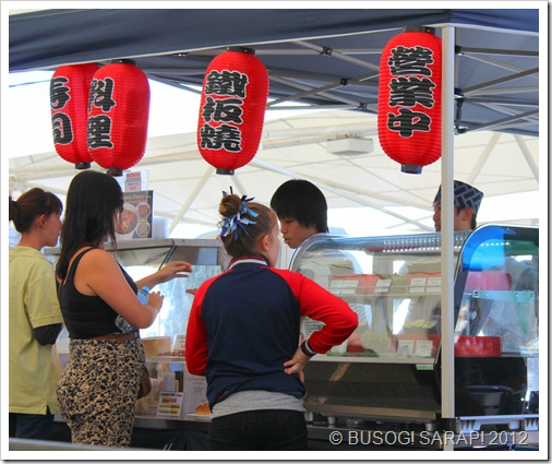 JAPANESE FOOD STALL, ROCKLEA SUNDAY DISCOVERY MARKET© BUSOG! SARAP! 2012