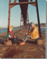 mf and h on pier xmas 82