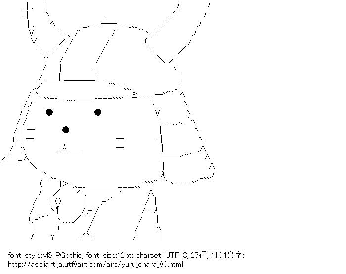 [AA]ひこにゃん (ゆるキャラ)