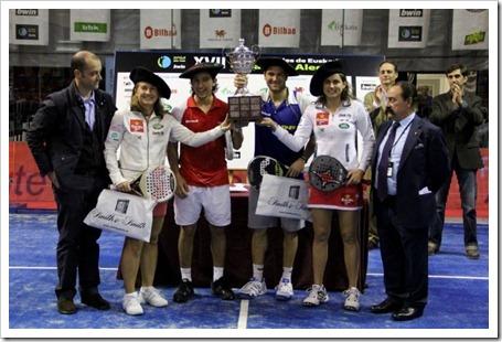 Nerone-Gutiérrez y Navarro-Reiter ya tienen la txapela de los XVII Internacionales de Euskadi Copa Julio Alegría como Campeones/as.