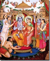 [Celebrating Rama's coronation in Ayodhya]