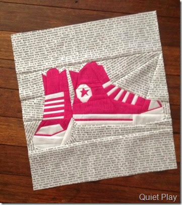 Paper Pieced Converse Shoes by Quiet Play