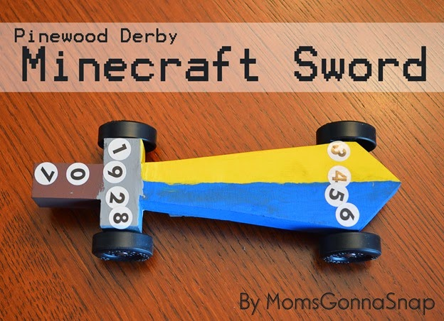 Pinewood Derby Minecraft Sword by MomsGonnaSnap