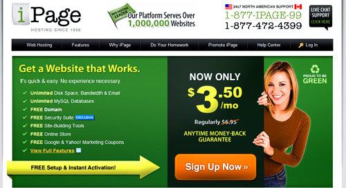 ipage webhosting