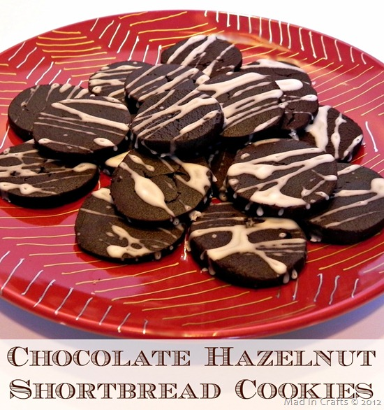 chocolate hazelnut shortbread cookie recipe