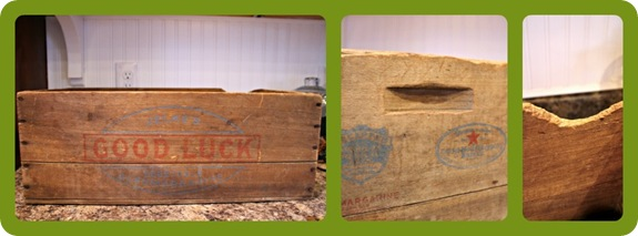vintage oleo margarine crate