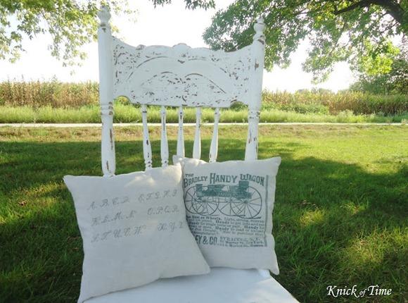 antique graphics pillow tutorial