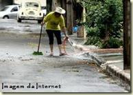 lavando rua