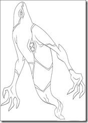 desenho para colorir ben 10 fantasmatico