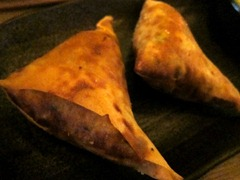 Spiced Chicken Samosas, Coriander Yoghurt