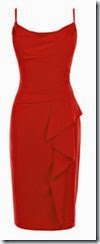 Coast Red Crepe Dress