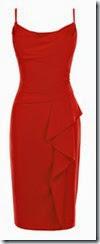 Coast Red Crepe Dress