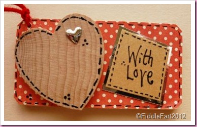 Valentine Wooden Heart tag