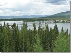 The Nisutlin Bay Bridge and the Village of Teslin