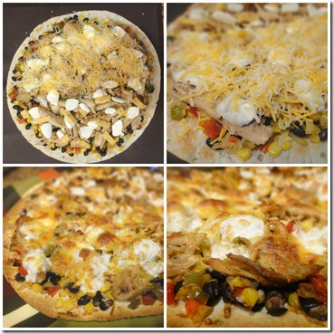 southwest pizza collage