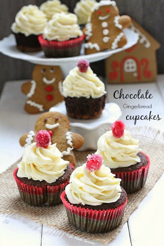 Chocolate Gingerbread Cupcakes with White Chocolate Buttercream from @LifeMadeSweeter @BobsRedMill #sponsored.jpg