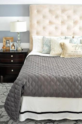 Cool Budget master bedroom makeover via MonicaWantsIt diy home