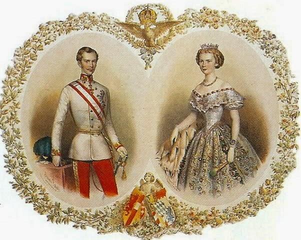 Franz Joseph y Elisabeth, recién comprometidos.