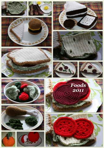 Crocheted Foods Collage 2011-1